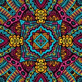 Abstract festive colorful  vector tribal pattern
