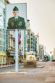 Checkpoint Charlie Touristic Attraction In Berlin