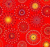 Japanese festival seamless red fireworks pattern