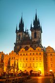 Church Of Our Lady Before Tyn At Sunrise