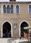Entrance Of The Historic Fish Market, Venice