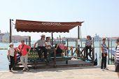 Venice Gondolier waiting for clients
