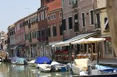 Tyical View Of The Little Island Of Murano, Near Venice