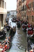 Venice Gondolier in a Traditional Venetian