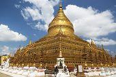 Shwezigon Pagoda , Bagan In Myanmar