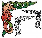 seahorse corner element