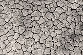 Dry Cracked Ground Grayscale Sepia Toned Photo