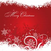 Template Christmas greeting card background, vector illustration