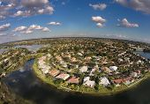 Waterfront Homes Aerial View