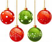 Illustration of color Christmas balls