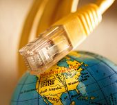 Ethernet Cable And Globe