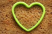Bread Slice And Heart