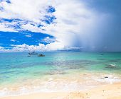 Sunshine Surf Stormy Scene