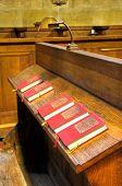 hoir chapel - detail of hymnal books