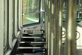 pic of tram  - Empty tram in a middle of a day in Belgrade - JPG