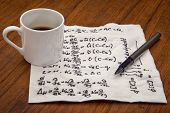 pic of handwriting  - mathematical equations of physics  - JPG