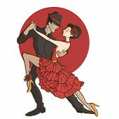 picture of tango  - 2d illustration - JPG