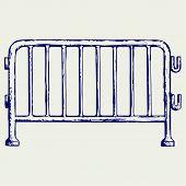 picture of barricade  - Steel barricades - JPG