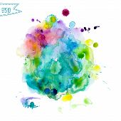 pic of purple white  - Abstract hand drawn watercolor background - JPG