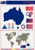 foto of nationalism  - vector Australia illustration country nation national culture - JPG