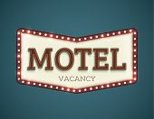 stock photo of motel  - Retro American motel roadsign - JPG