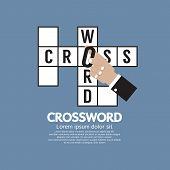 foto of scrabble  - Flat Design Crossword Vector Illustration - JPG