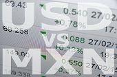 image of pesos  - US dollar versus Mexican peso  - JPG
