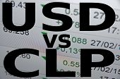 foto of pesos  - US dollar versus Chilean peso  - JPG