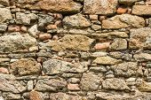 picture of carmelite  - Fragment of stone ramparts of the monastery of the Order of Discalced Carmelites of the 17th century - JPG