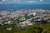 foto of observed  - The view of Chiang Mai town from Doi Suthep observation deck - JPG