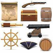 stock photo of spyglass  - Pirate icons - JPG