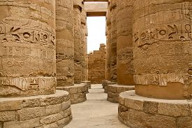 stock photo of hieroglyphic  - Ancient ruins of Karnak temple in Egypt - JPG