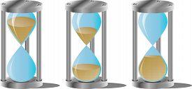 stock photo of countdown timer  - Hourglass set - JPG