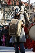 stock photo of mummer  - Bulgaria mummers parade 2009 - JPG