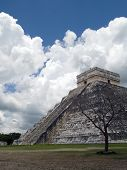 stock photo of ziggurat  - the ancient ziggurat of chichen itza at mexico - JPG