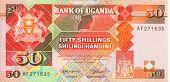 alte Papier Banknote Geld Uganda-Schilling