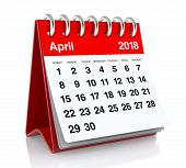 April 2018 Calendar poster