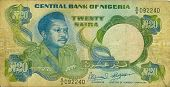 Old Paper Banknote Money Nigeria Naira