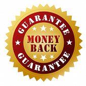 Money Back Guarantee Badge 3D Illustration poster