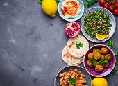 Middle Eastern Dishes Background poster