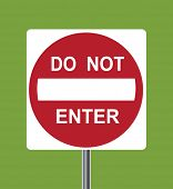 Do not enter traffic sign - VECTOR