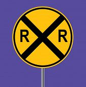 Rail road crossing sign - VECTOR