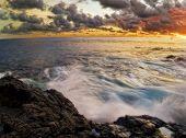 Sonnenuntergang von Hawaii. fotografiert in Kona auf big Island. Hawaii. USA