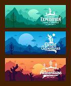 Desert Adventures Horizontal Banner Set poster
