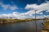 Flooded Electricity Pylons