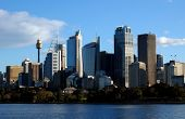 foto of urbanisation  - Picture of the sydney skyline taken from the harbour - JPG