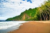 Lonely beach on the Big Island. Hawaii. USA