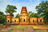 Temple in the jungle. Angkor. Cambodia
