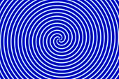 Optical Illusion Hypno Blue