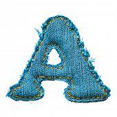Handmade letra do alfabeto de jeans